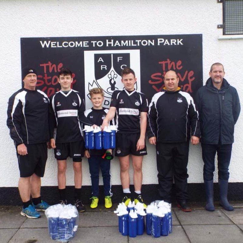 New water bottles for Ards Youth Rugby