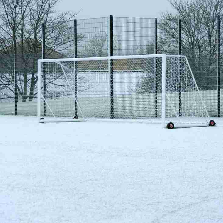 U11s tournament cancelled this Sunday, due to weather conditions