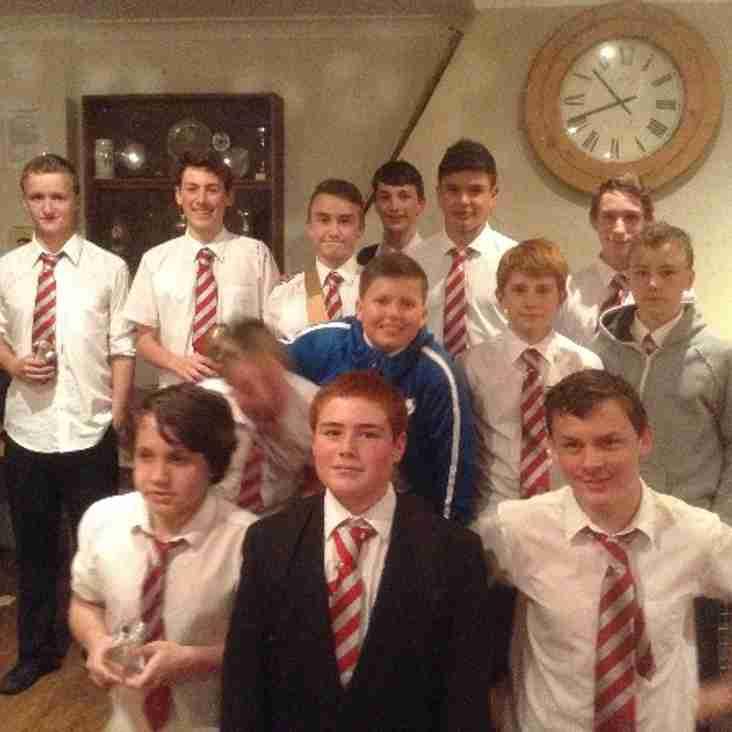 Under 14's awards night