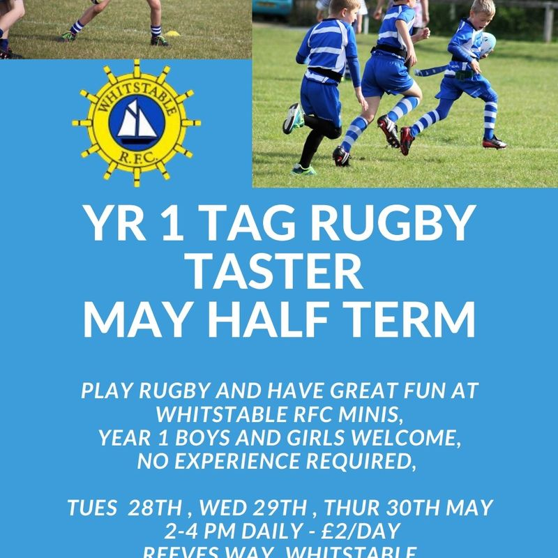 Tag Rugby Taster May Half Term