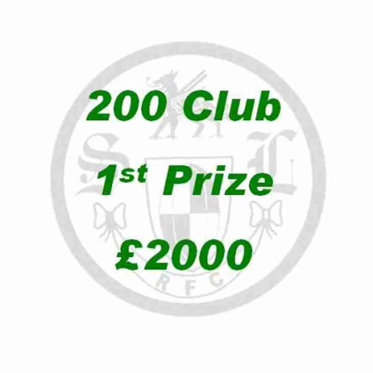 South Leicester 200 Club Update