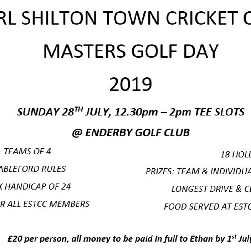 ESTCC Masters Golf Day 2019