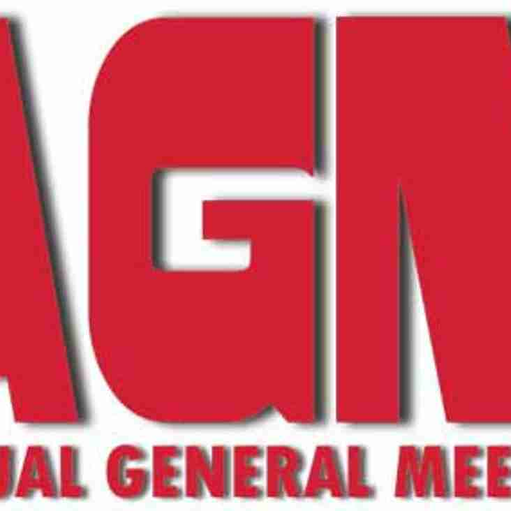 Annual General Meeting; Tuesday 11th June