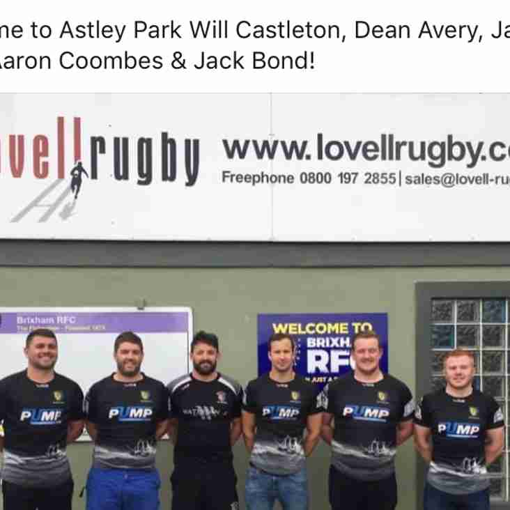 New Players at Brixham Rugby Club
