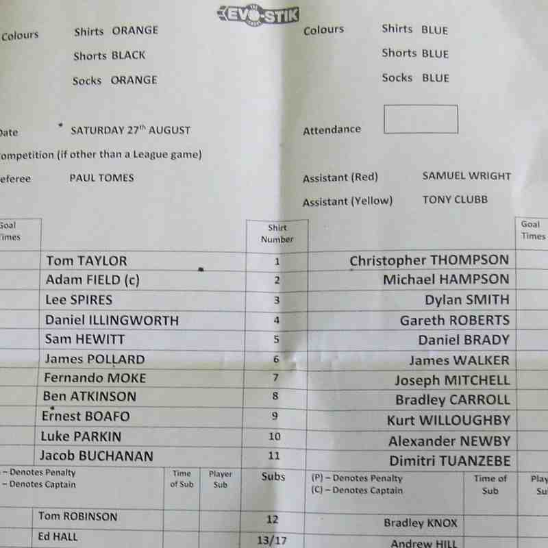 Brighouse Town 2-1 Clitheroe 27-08-2016