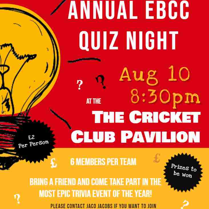 Annual EBCC Quiz Night