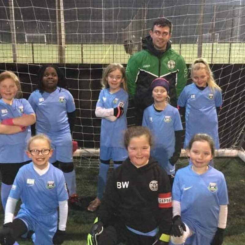 Priory's youngest ever girls football team in history in action tonight....