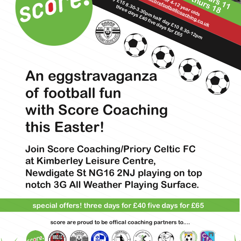 Easter holiday Football Camp.