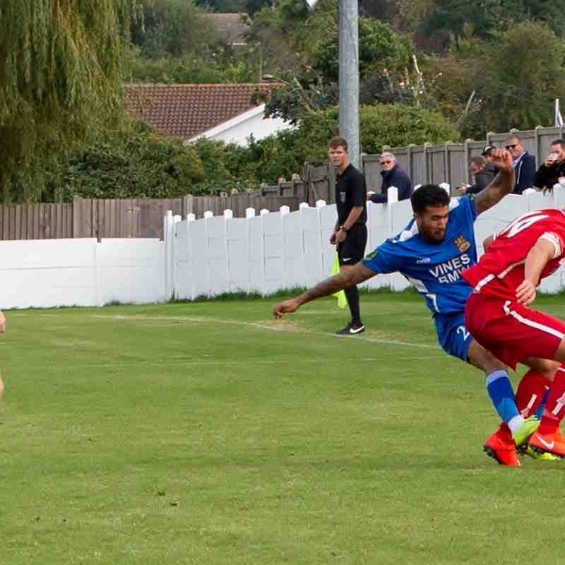 Troy Williams was shown a red card for this challenge on Marshall Wratten
