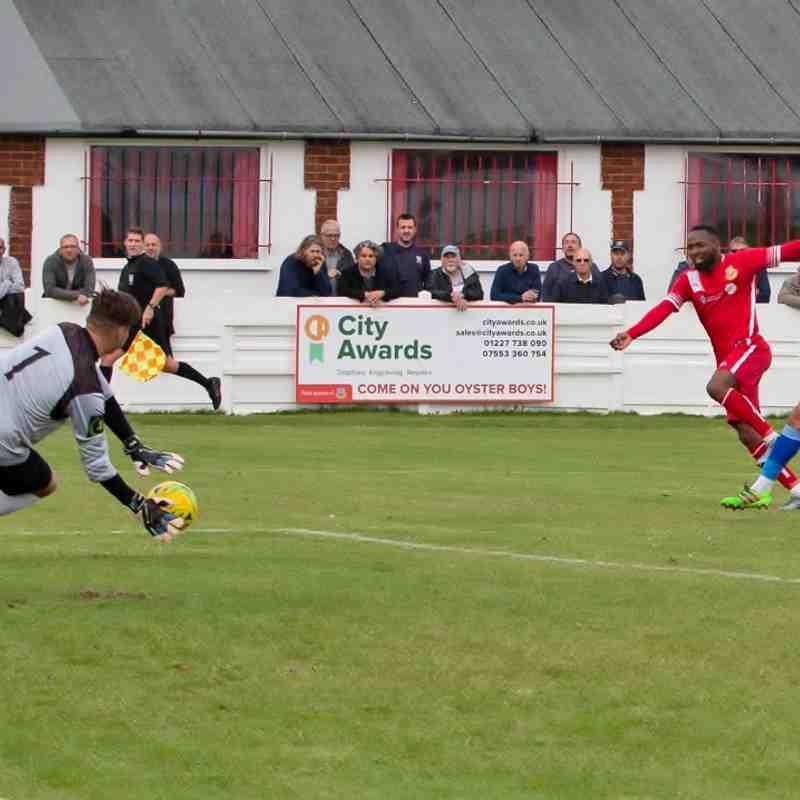 Kieron Thorp saves a Marcus Elliott shot