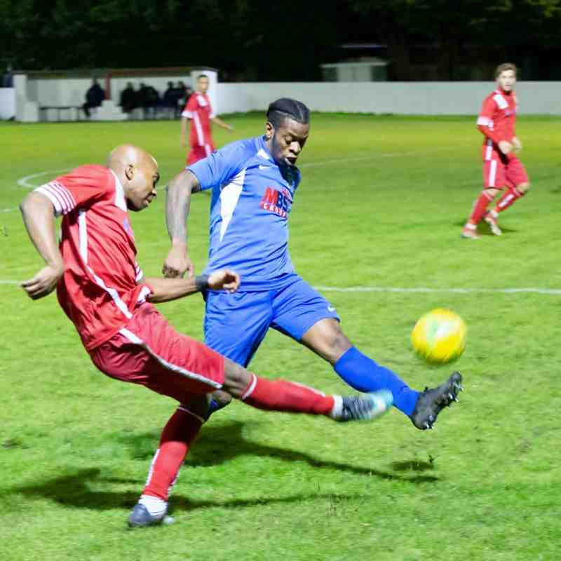 John Ufuah almost creates an equaliser with a good cross just before half time