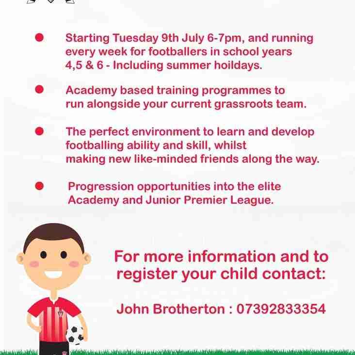 Junior Academy Training! Every Tuesday
