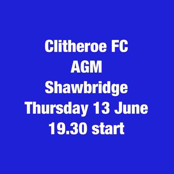 Clitheroe FC AGM