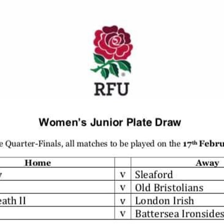 Ladies home draw in National Quarter Final<