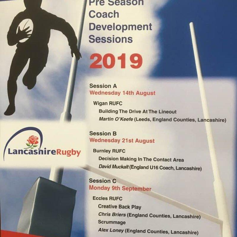 Pre season coach development session!