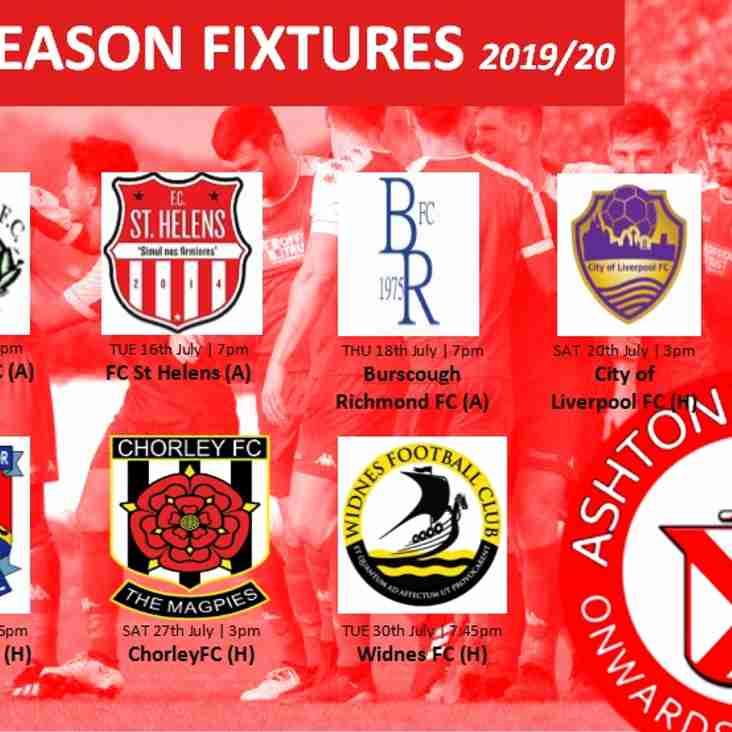 Pre Season fixtures