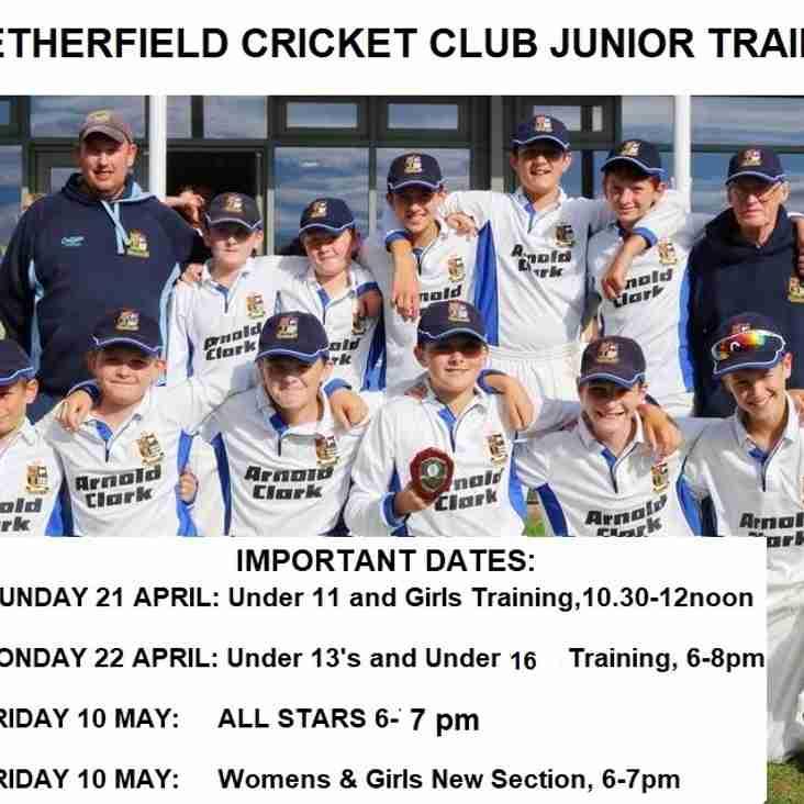 Netherfield Cricket Club Junior Training