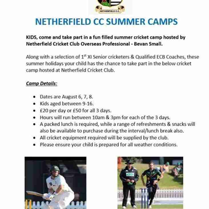Netherfield CC Summer Camps