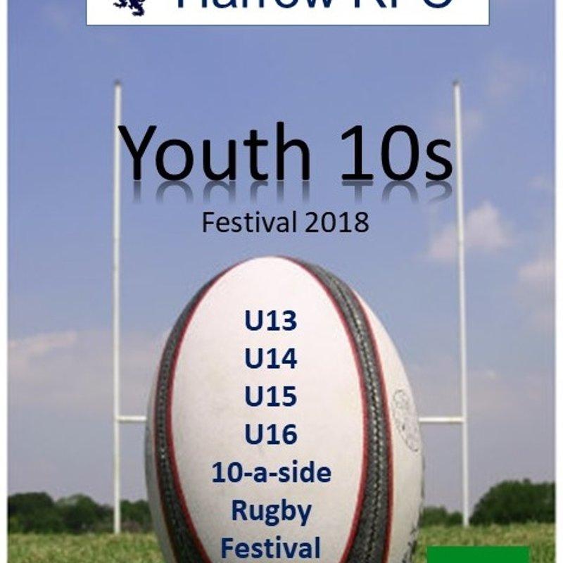 Harrow Youth 10s Festival back on Sunday 24th