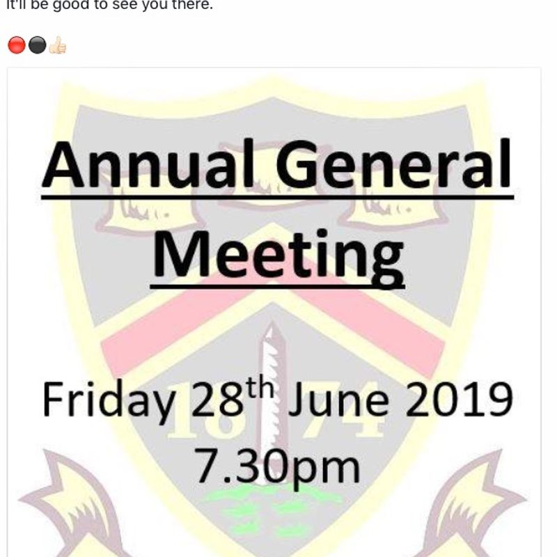 AGM - 28th June 2019 - UPDATE