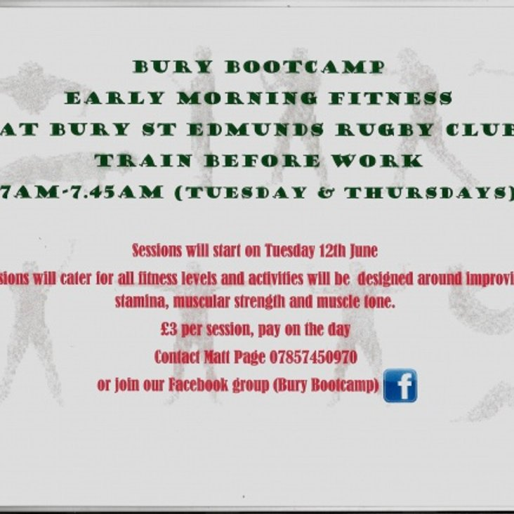 Rugby Bootcamp Early Morning Fitness - New @ Bury St Edmunds<