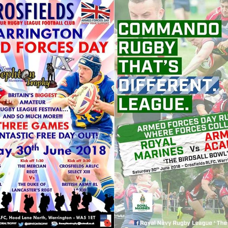 Armed Forces Day At Crosfields ARLFC<