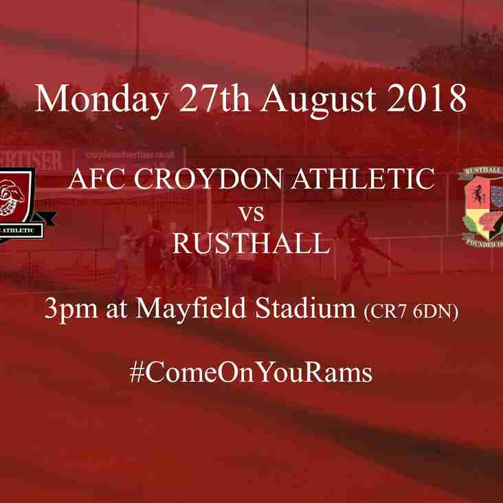 Back to League Action with the Visit of Rusthall