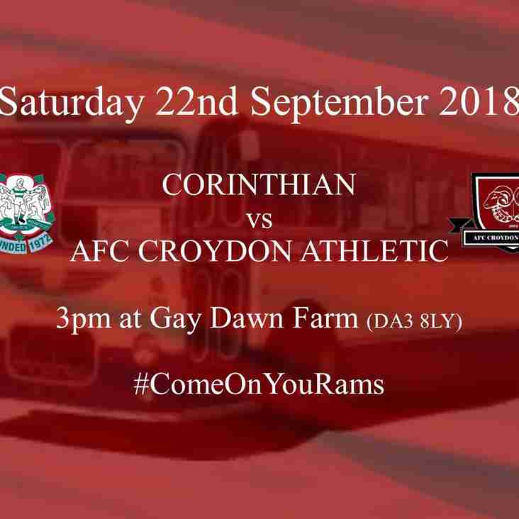 Back to League Action at Corinthian