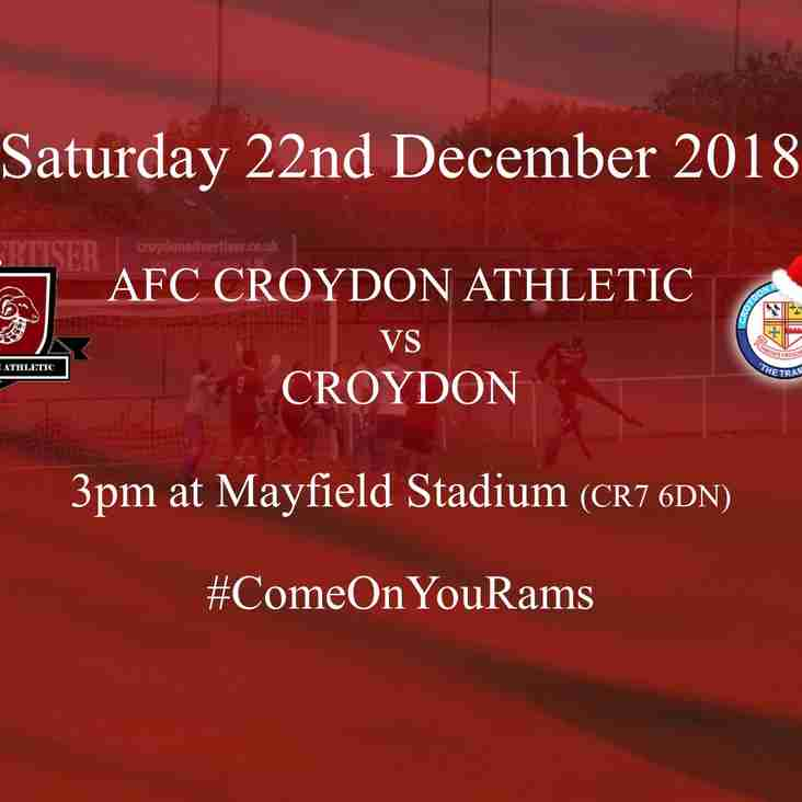 Christmas Match Start with Town Derby