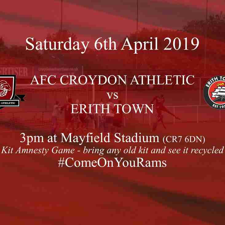 Preview - Erith Town At Mayfield Stadium