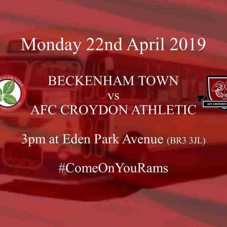 Preview - Rams Local Derby Trip to Beckenham