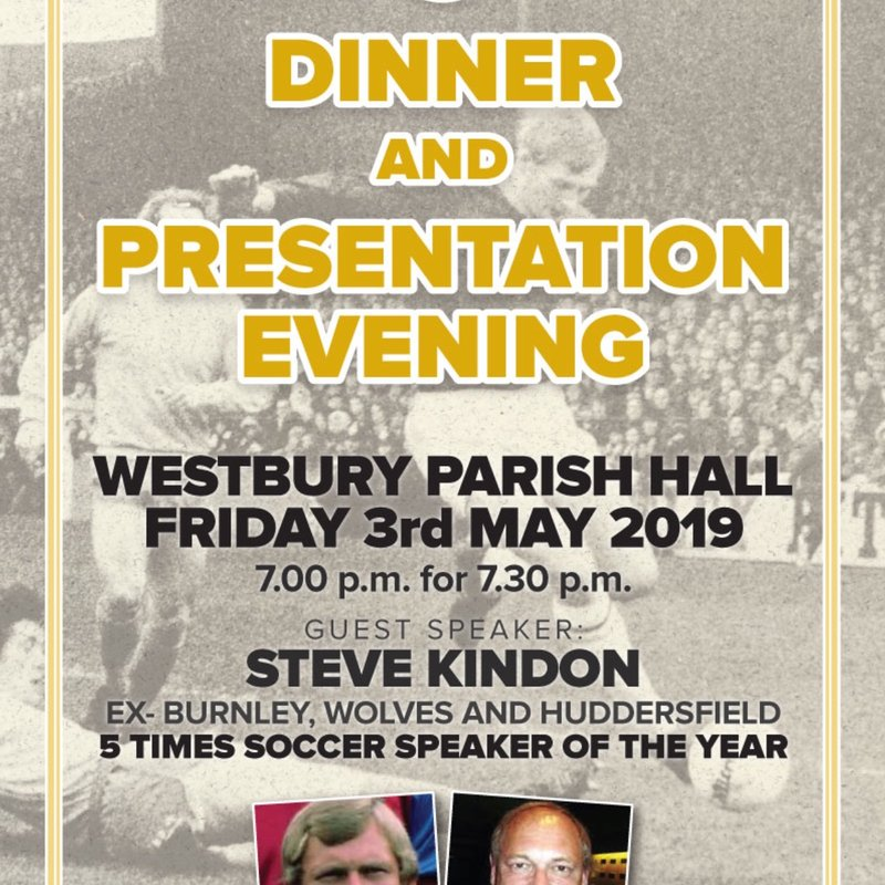 Annual Dinner and Presentation Evening 3rd May 2019
