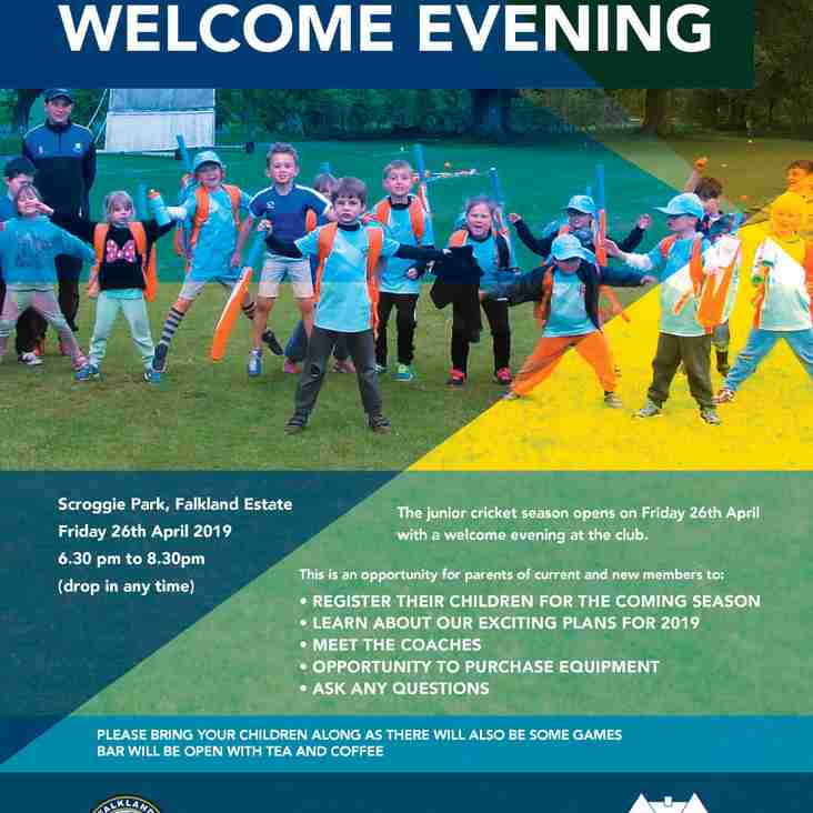 Junior Welcome Evening 2019