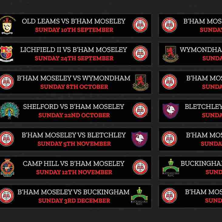 Birmingham Moseley Women's fixtures announced for 2017/18