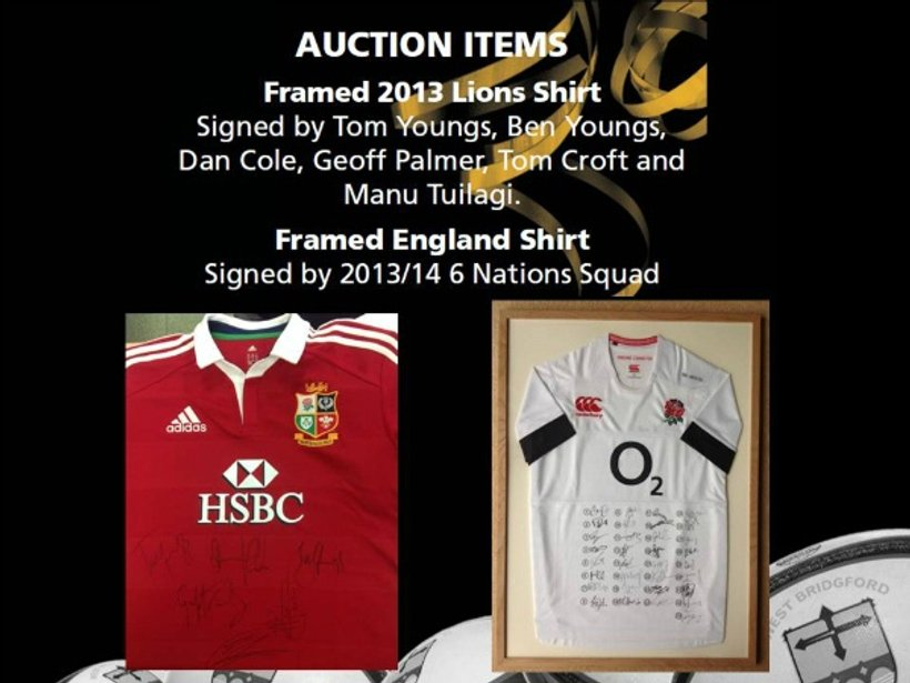 Pre Auction Bids - Signed Lions & England Shirts - News - West
