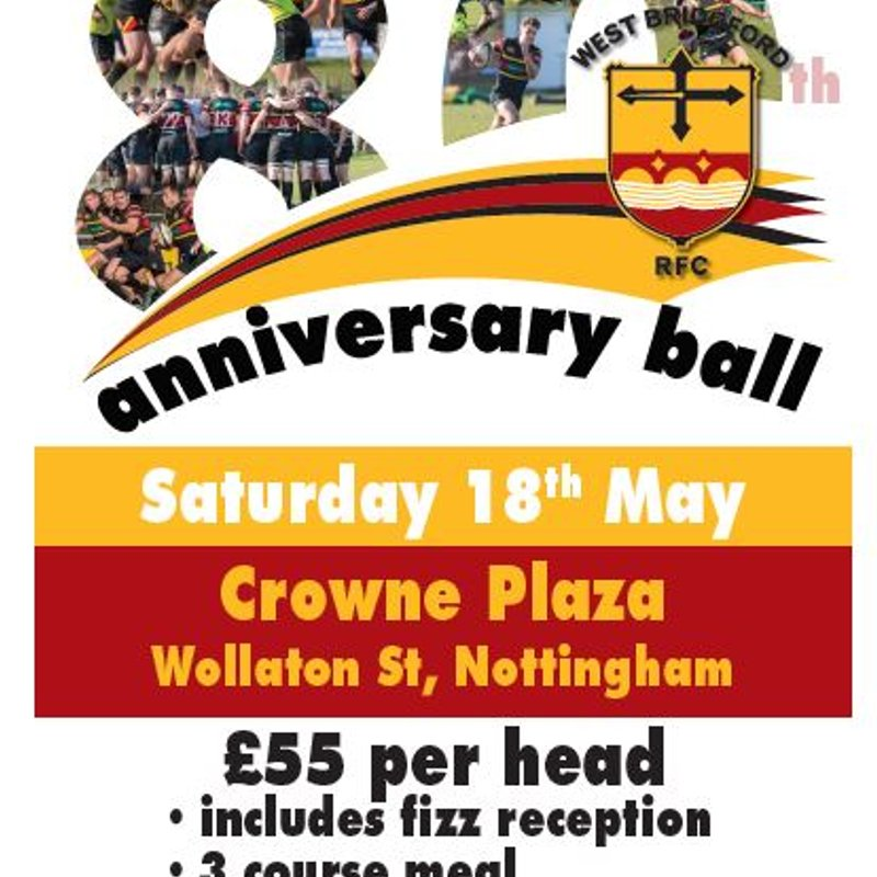 80th Anniversary Ball - Bookings now open