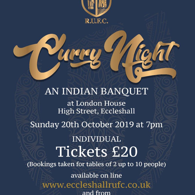 Join Us for the Eccleshall RUFC Curry Night