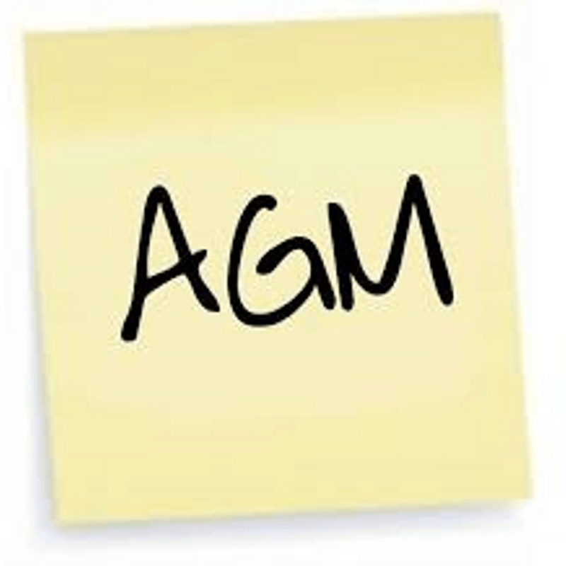 AGM Monday 17th June 2019