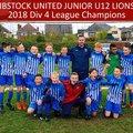 IBSTOCK UTD U12 LIONS DIVISION 4 CHAMPIONS