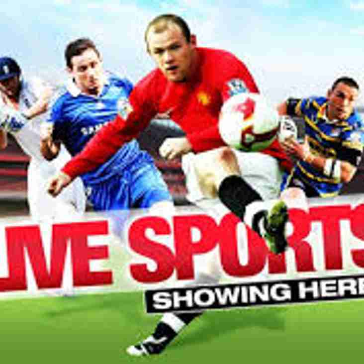 Live sport on TV this week