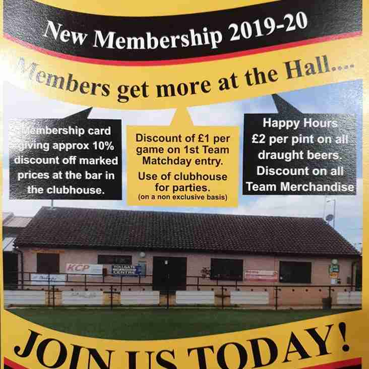 Memberships for 2019-20