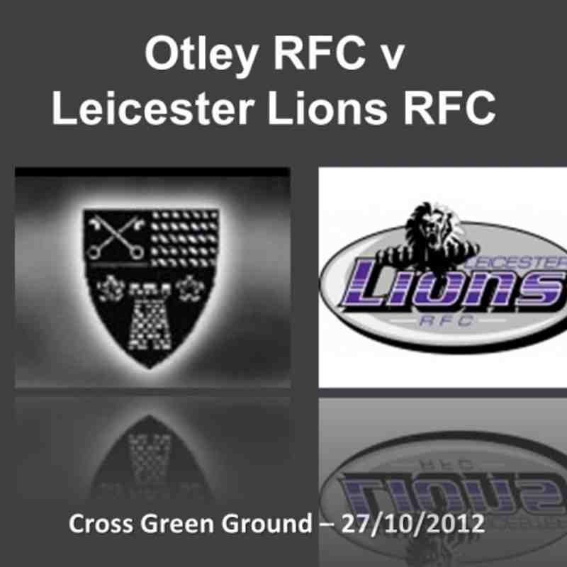 Otley v Leicester Lions - 27/10/2012