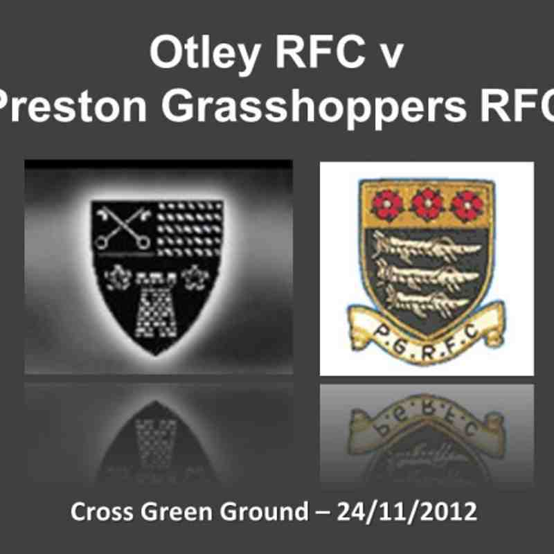 Otley v Preston Grasshoppers - 24/11/2012