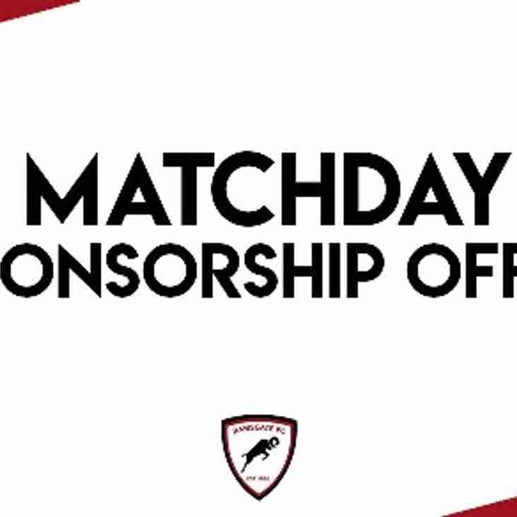 New Matchday Sponsorship Offer