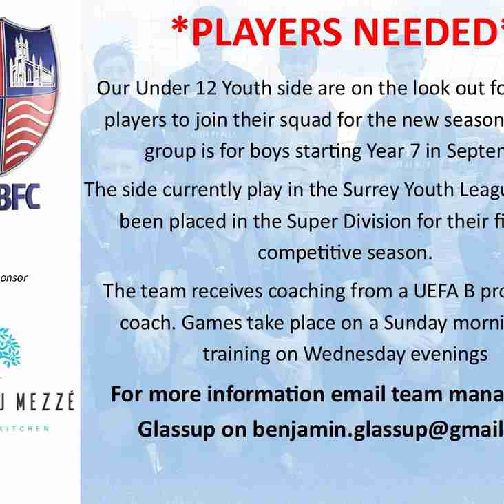 Year 7 Players Needed