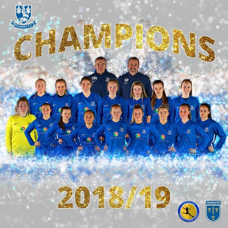 Rylands Women win the league!