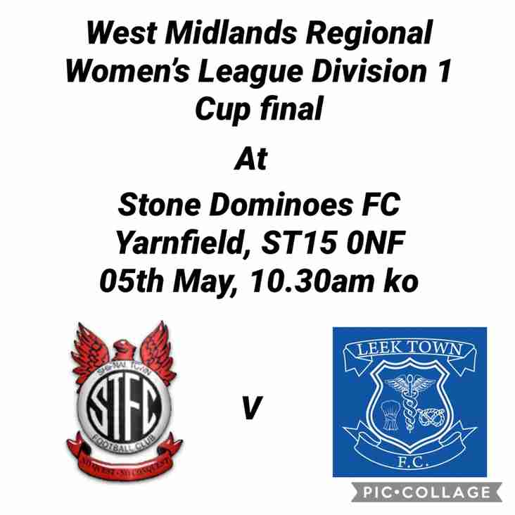 LADIES GOING FOR DOUBLE IN CUP FINAL THIS SUNDAY 05th MAY