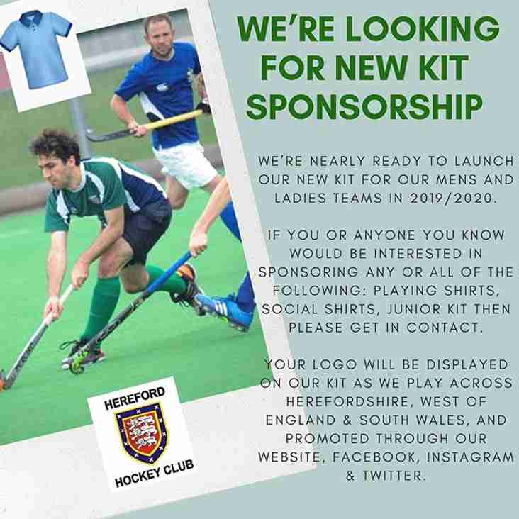 We're looking for new kit sponsorship?