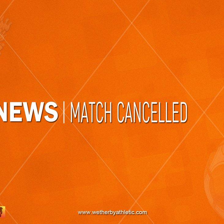 NEWS: Match Cancelled<