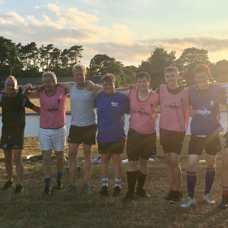 O2 touch rugby every Thursday at Holt Rugby club